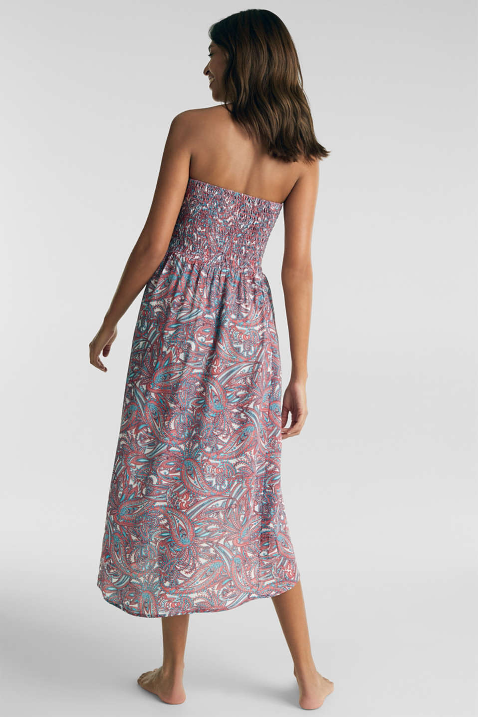 Casual dress with a paisley print, CORAL, detail image number 1