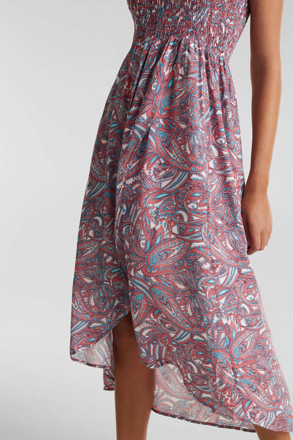 Casual dress with a paisley print, CORAL, detail image number 3