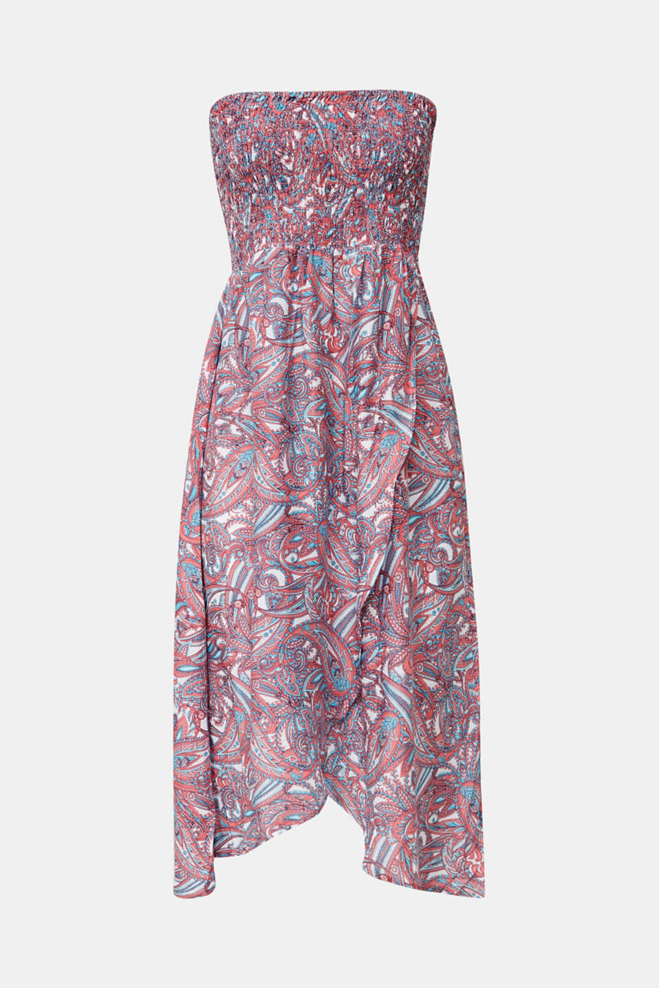Casual dress with a paisley print, CORAL, detail image number 2