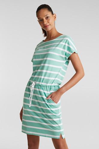 Beach dress with a drawstring, 100% cotton