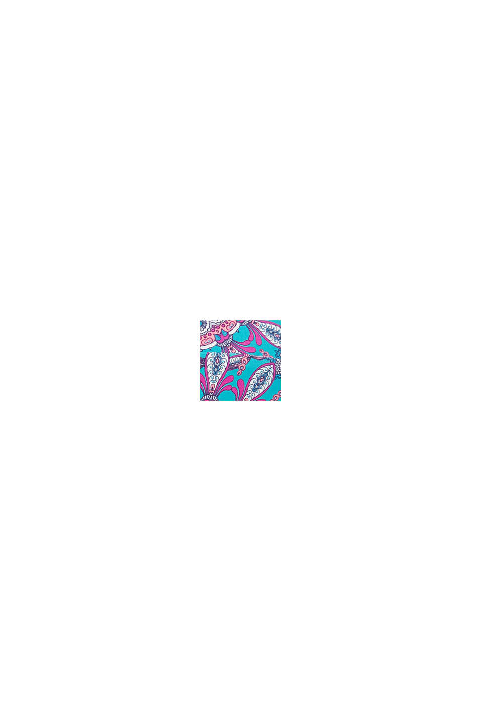 Wattiertes Top mit abnehmbarem Neckholder, BLUE, swatch