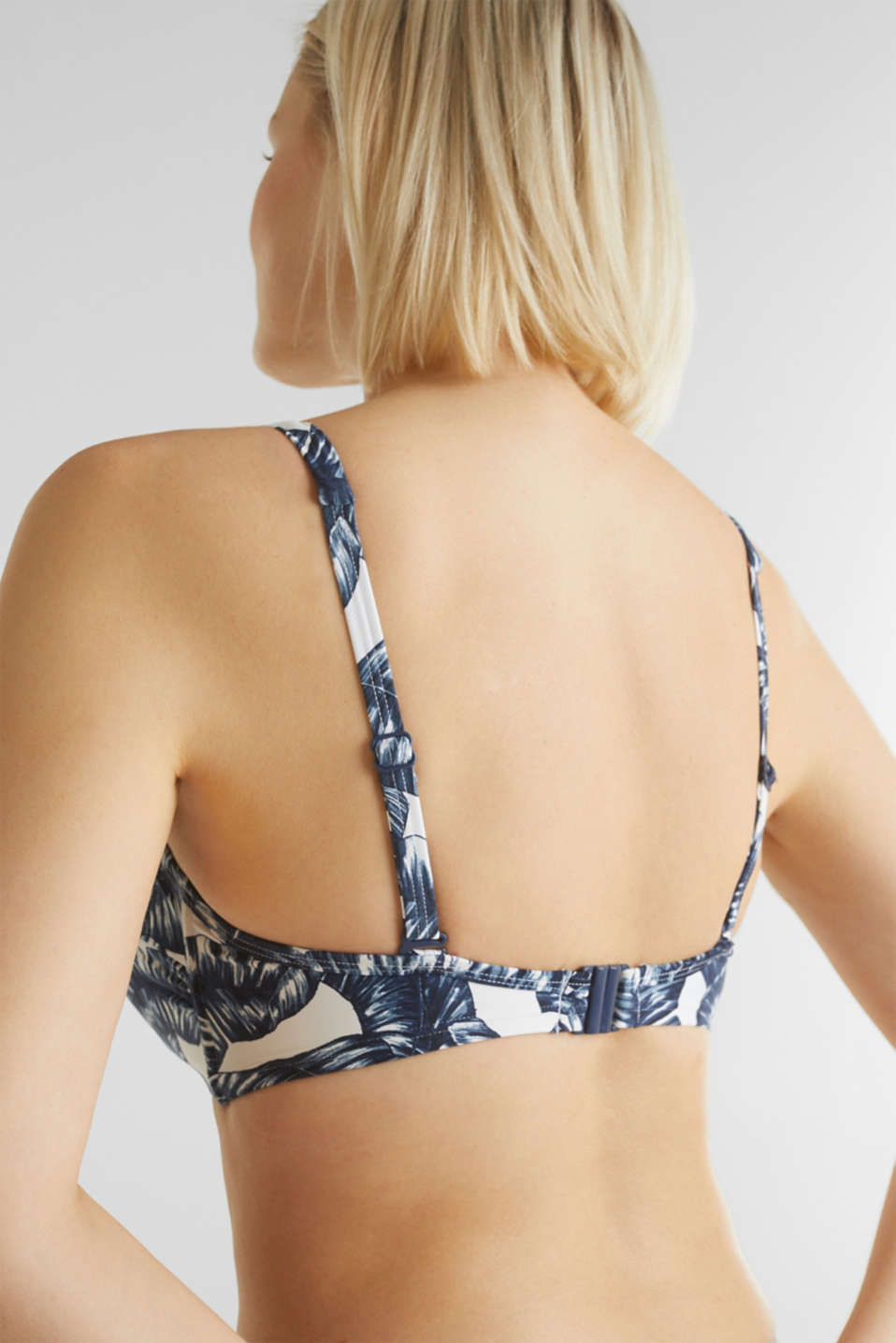 Padded underwire top for large cup sizes, NAVY 2, detail image number 1