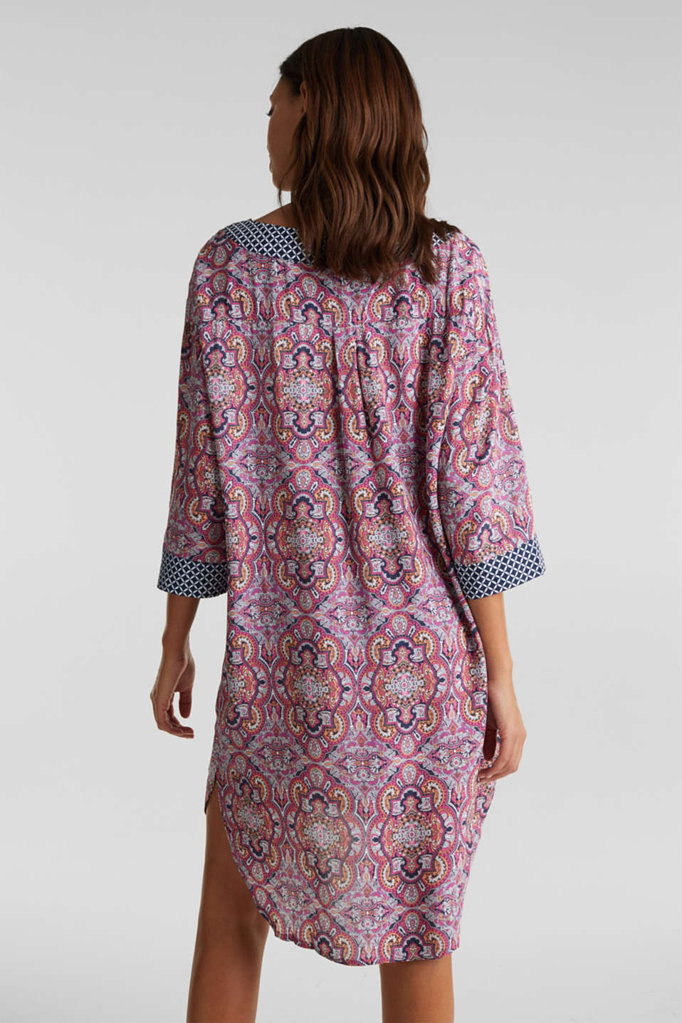 Tunic dress with a mixed pattern, NAVY 2, detail image number 1