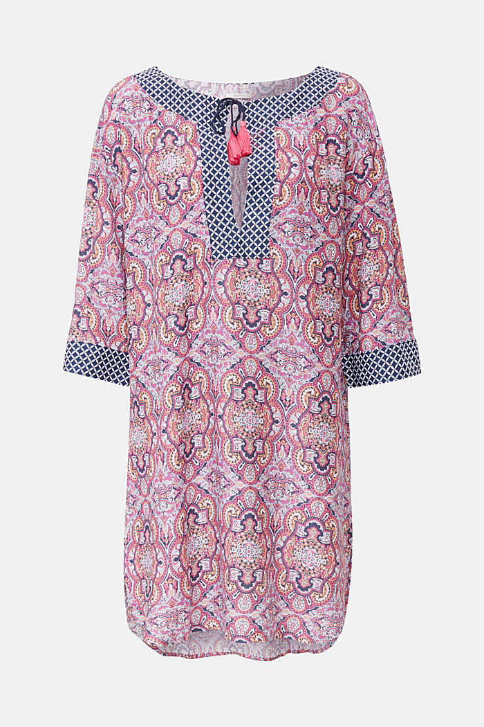 Tunika-Kleid mit Muster-Mix, NAVY, detail image number 2
