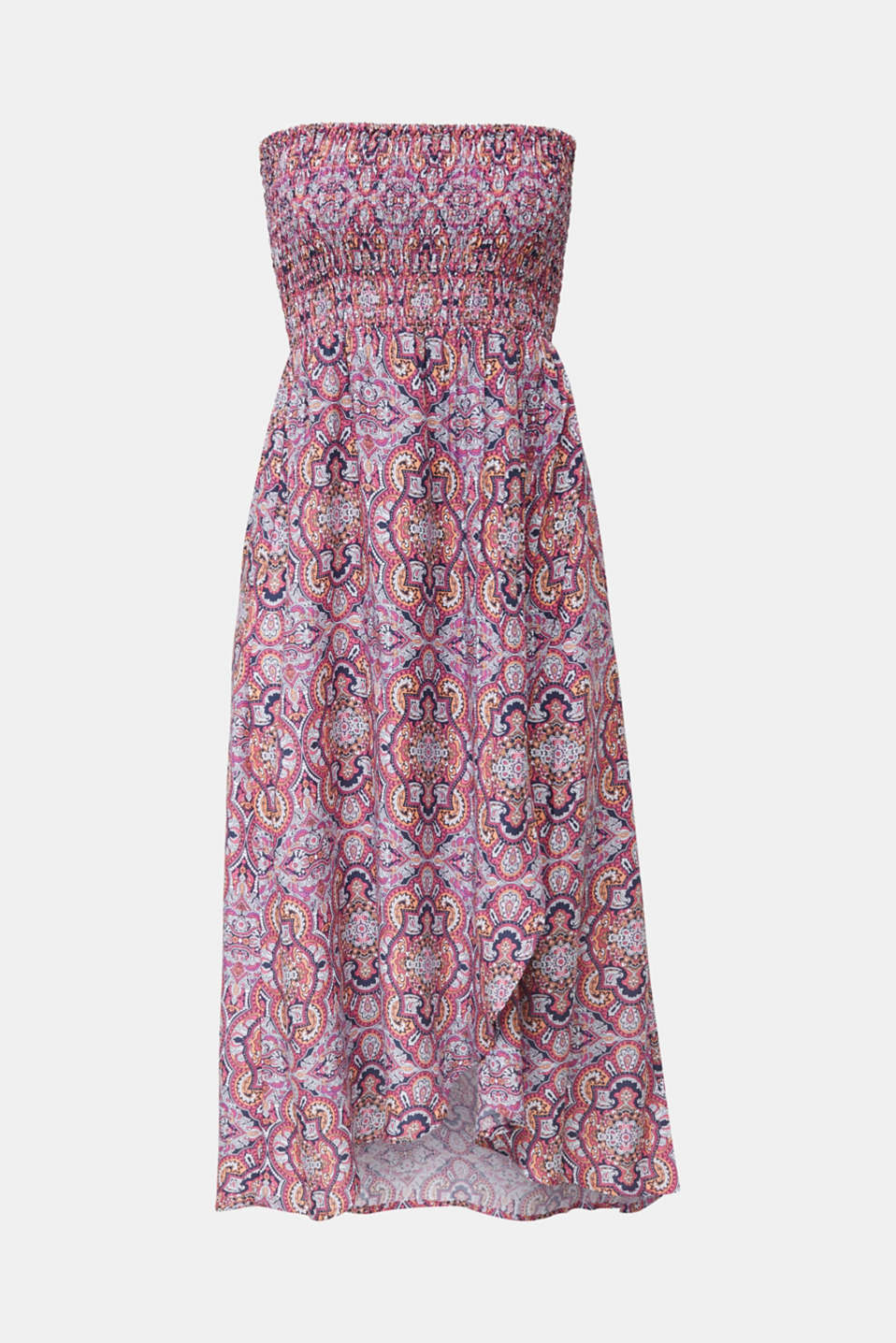 Smocked beach dress with a print, NAVY 2, detail image number 2