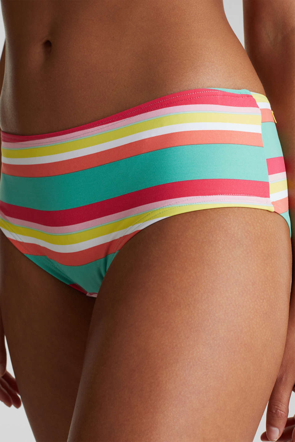 Hipster shorts with stripes, DUSTY GREEN, detail image number 1