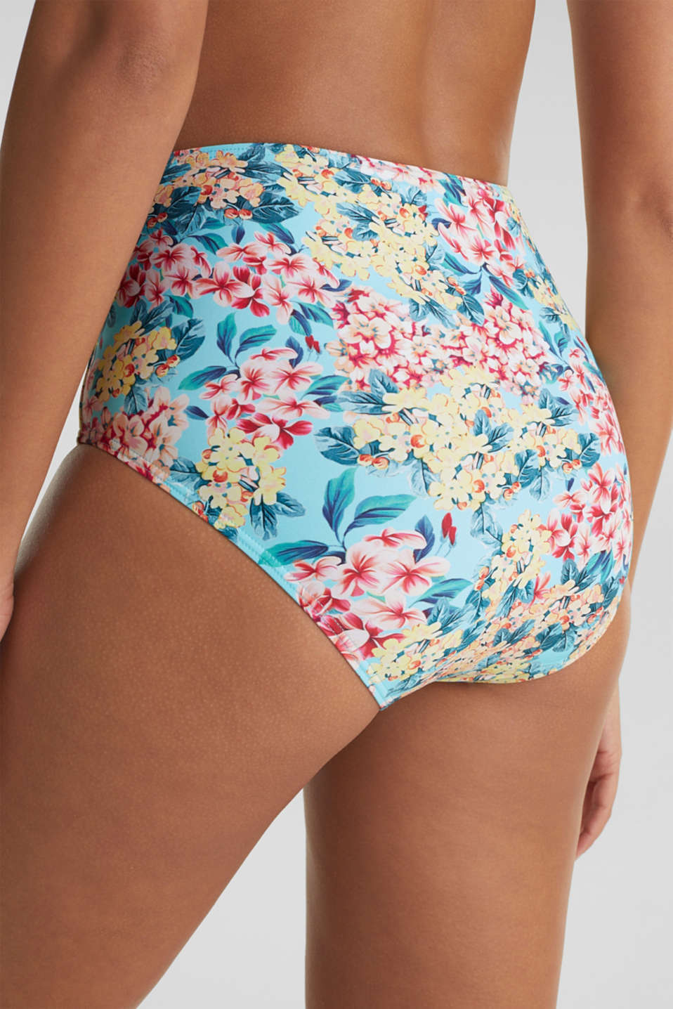 High-waisted briefs with a tie-around belt, TURQUOISE, detail image number 3