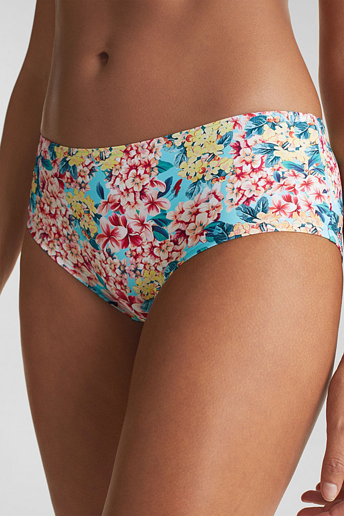 Hipster-Shorts mit Print, TURQUOISE, detail image number 1