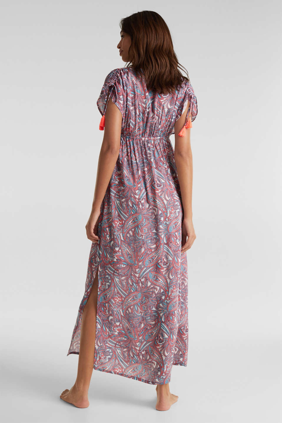 Maxi dress with a paisley print, CORAL, detail image number 1
