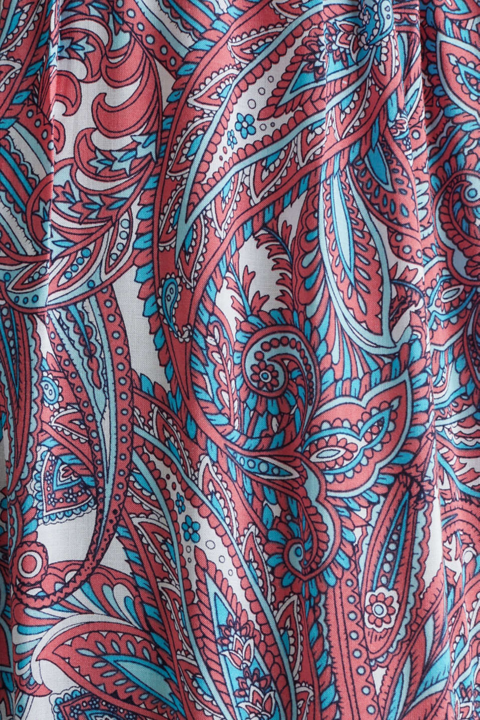 Maxi dress with a paisley print, CORAL, detail image number 3