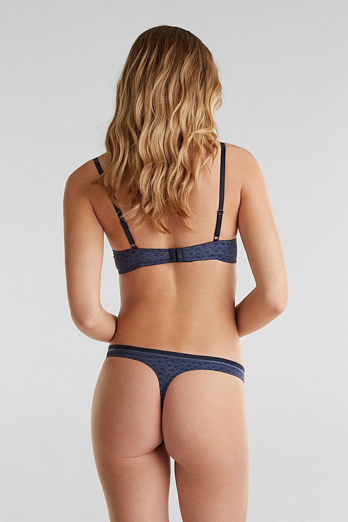 Hipster thong with a shell print, NAVY, detail image number 2