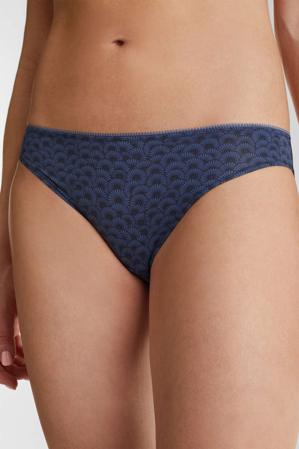 Double pack: hipster briefs with a shell print, NAVY 2, detail image number 1