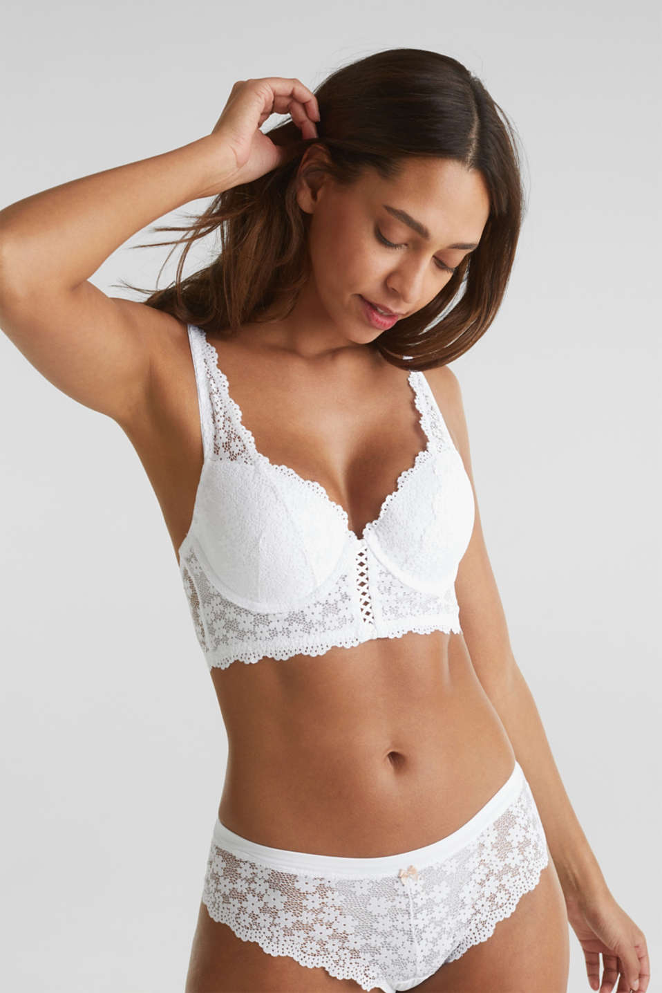 Esprit - Padded underwire bodice made of lace
