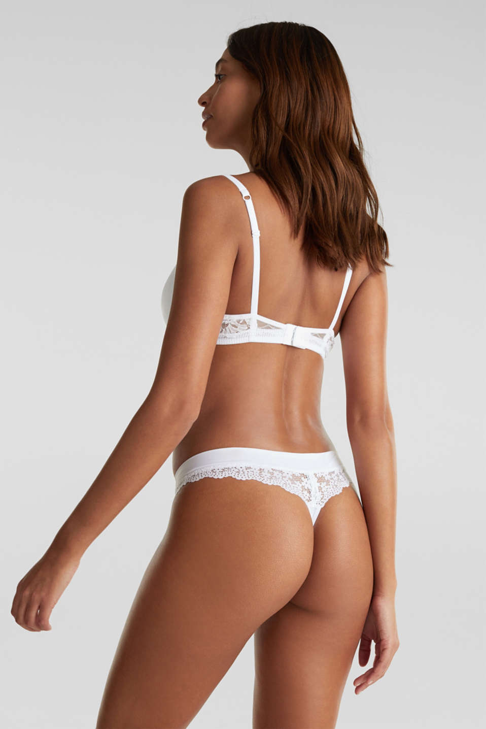 Hipster thong in crocheted lace, WHITE, detail image number 2