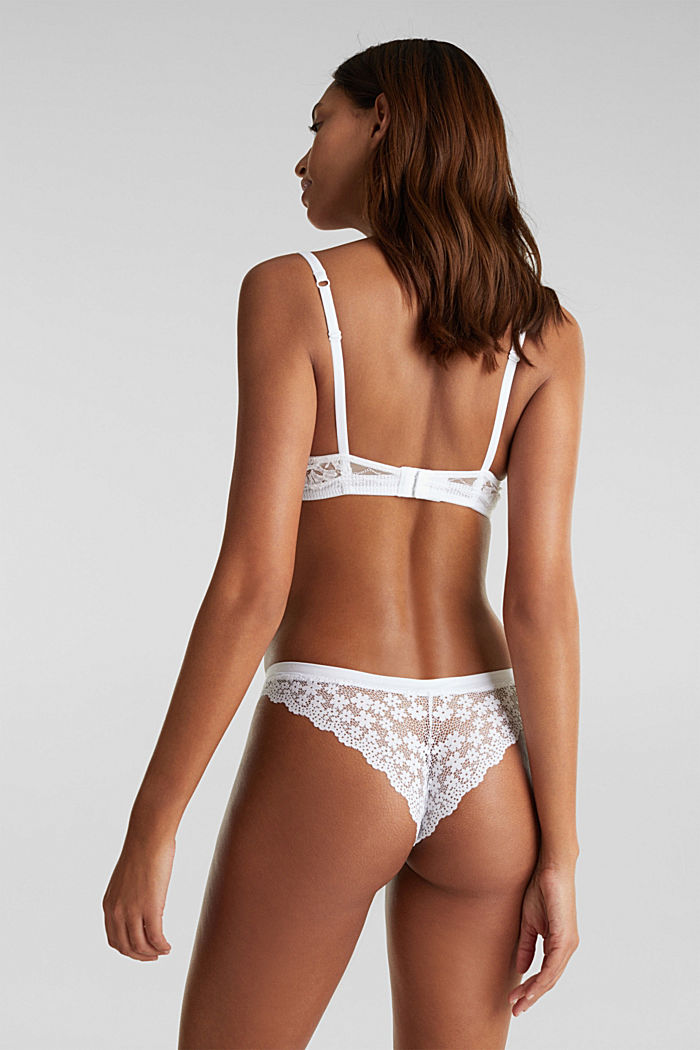 Hipster briefs in crocheted lace, WHITE, detail image number 2