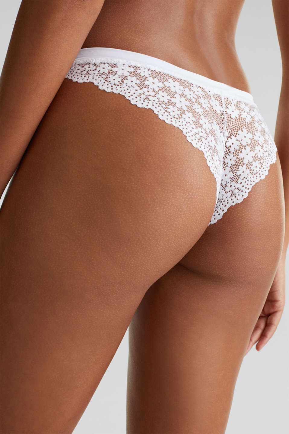 Hipster briefs in crocheted lace, WHITE, detail image number 3