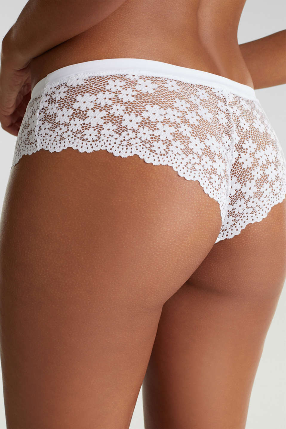 Hipster briefs in lace, WHITE, detail image number 3