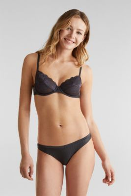 Hipster briefs with lace, ANTHRACITE, detail