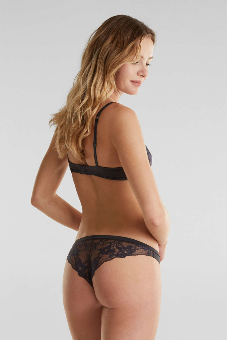 Hipster briefs with lace, ANTHRACITE, detail image number 2