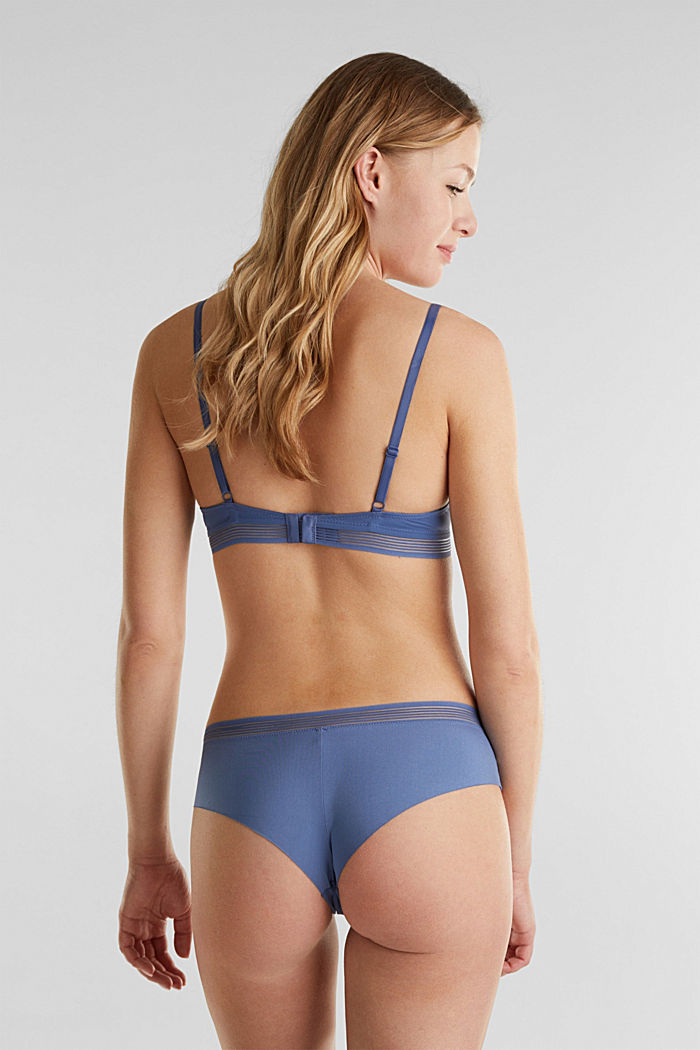 Padded underwire bra with sheer stripes, BLUE LAVENDER, detail image number 1