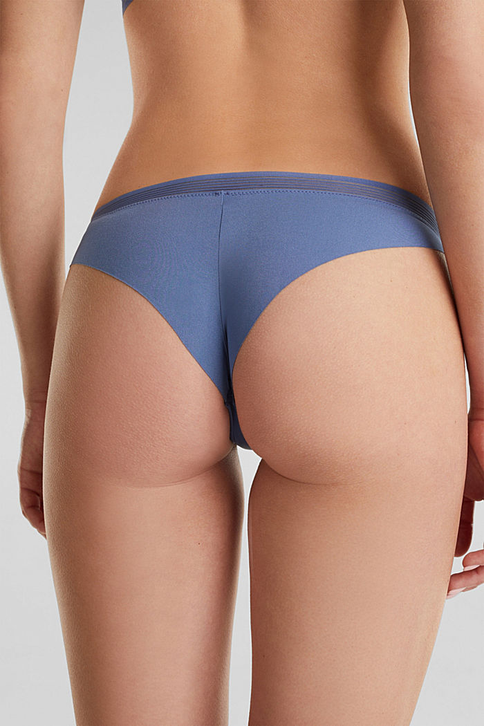 Hipster briefs with sheer stripes