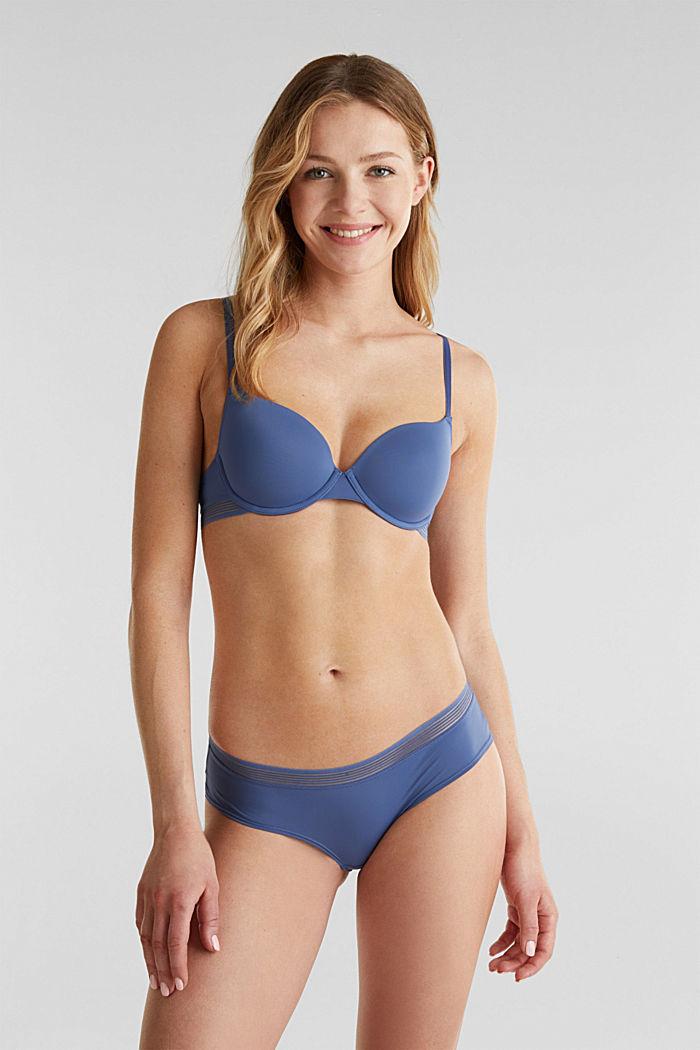 Hipster-Shorts mit Transparenz-Streifen, BLUE LAVENDER, detail image number 0