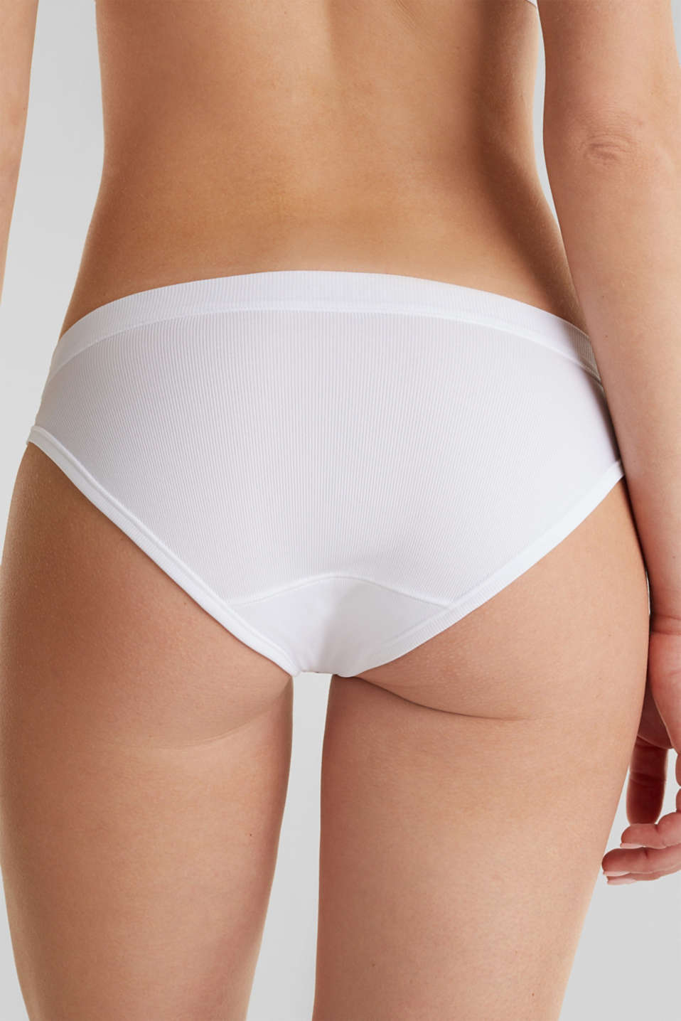 Briefs made of ribbed jersey, WHITE, detail image number 4