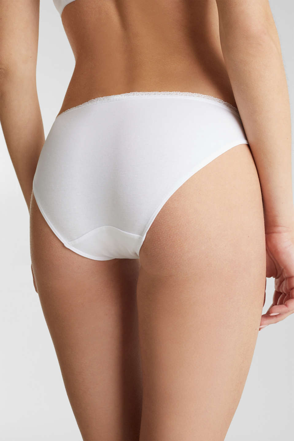 Triple pack: hipster briefs with a lace waistband, WHITE, detail image number 1