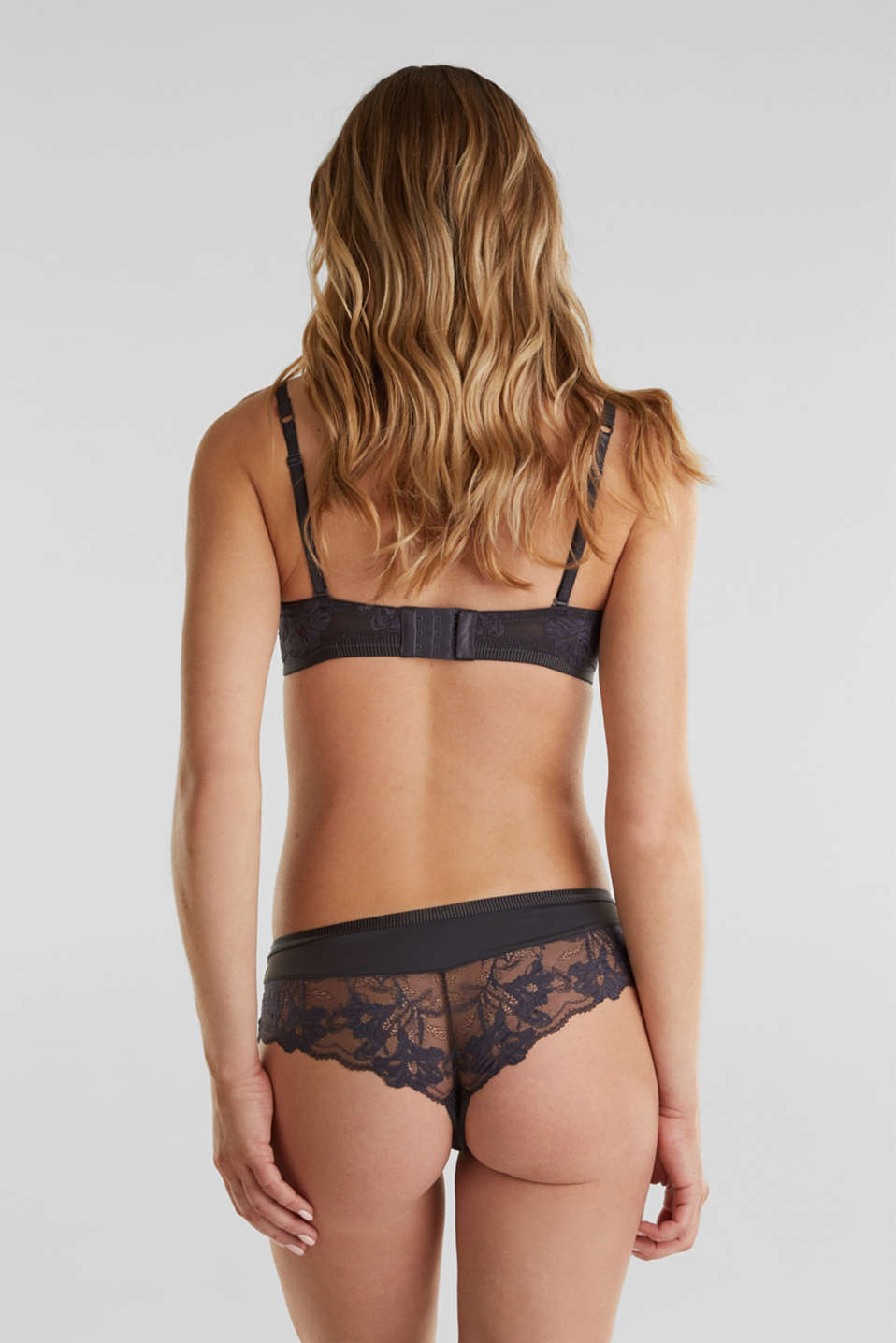 Underwire bra with detachable straps, ANTHRACITE, detail image number 1