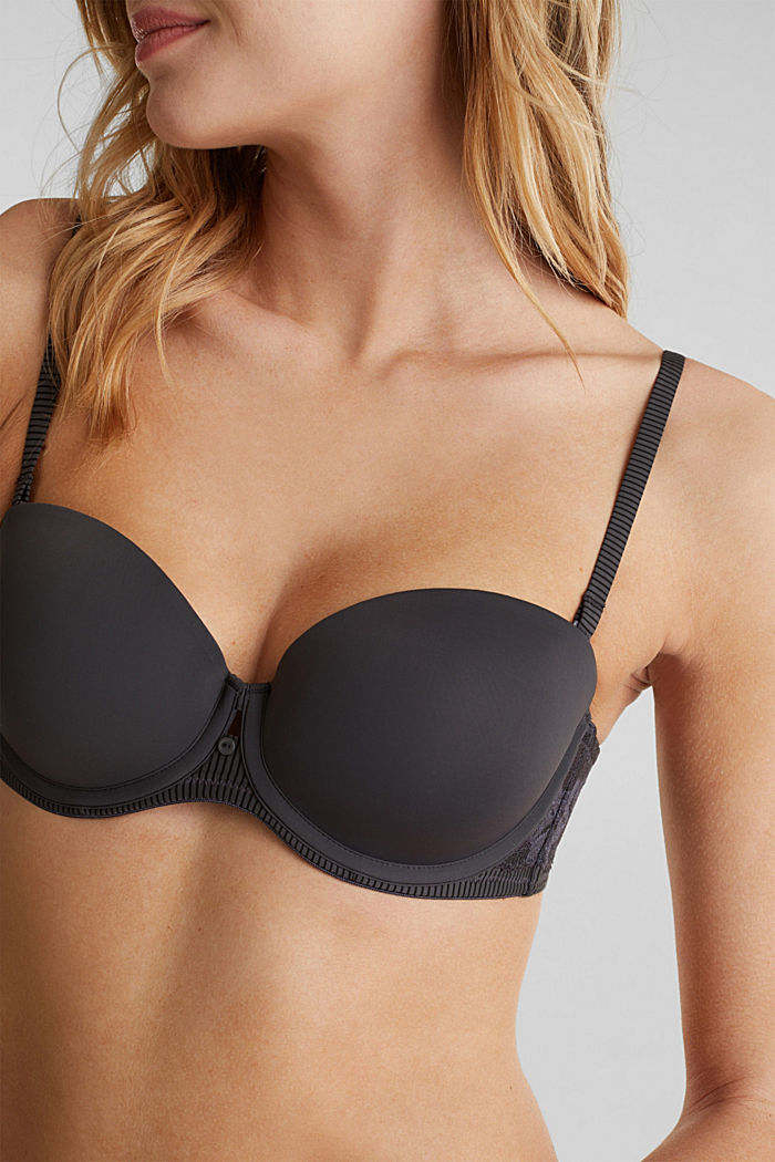 Underwire bra with detachable straps, ANTHRACITE, detail image number 2