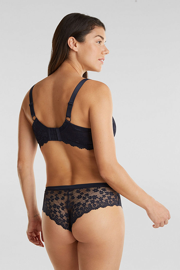 Unpadded underwire lace bra, NAVY, detail image number 1