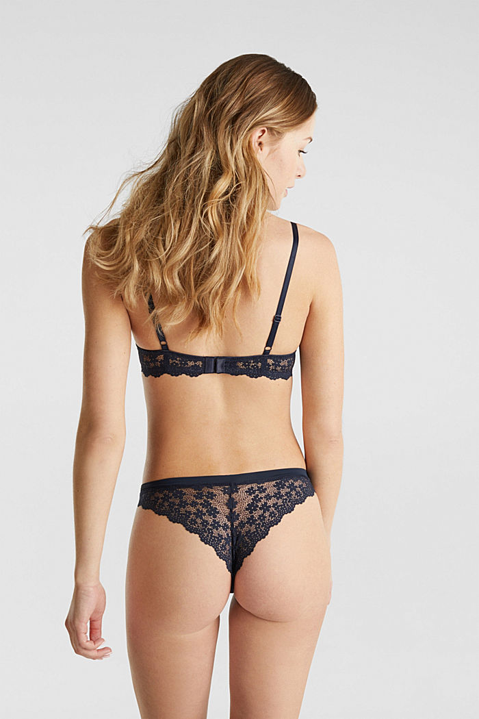 Hipster briefs in lace, NAVY, detail image number 2