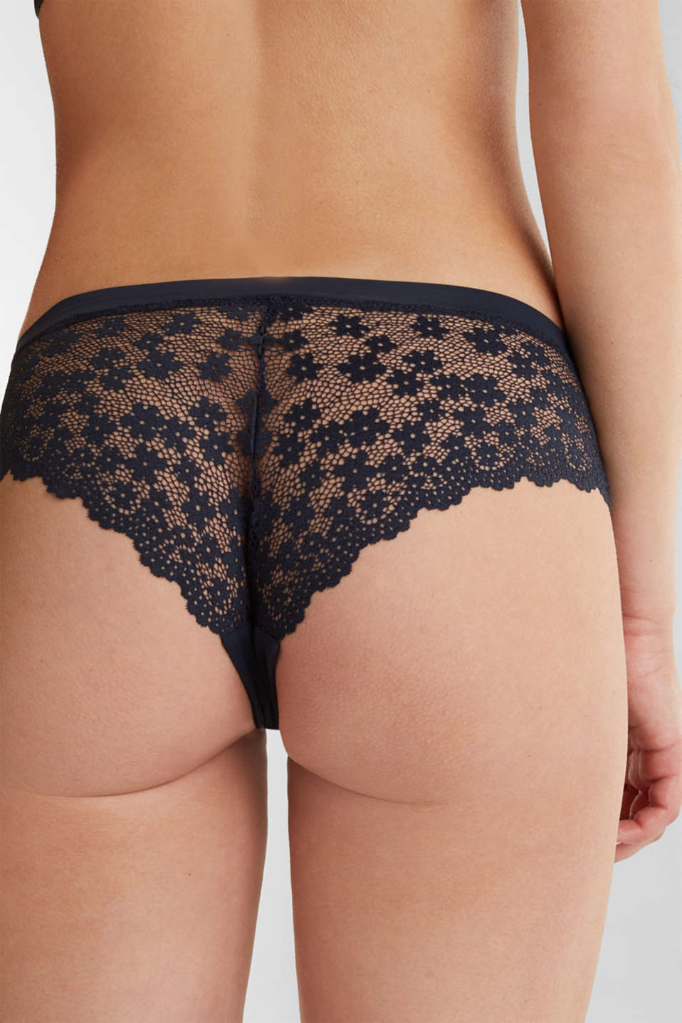 Hipster shorts in crocheted lace, NAVY 2, detail image number 2