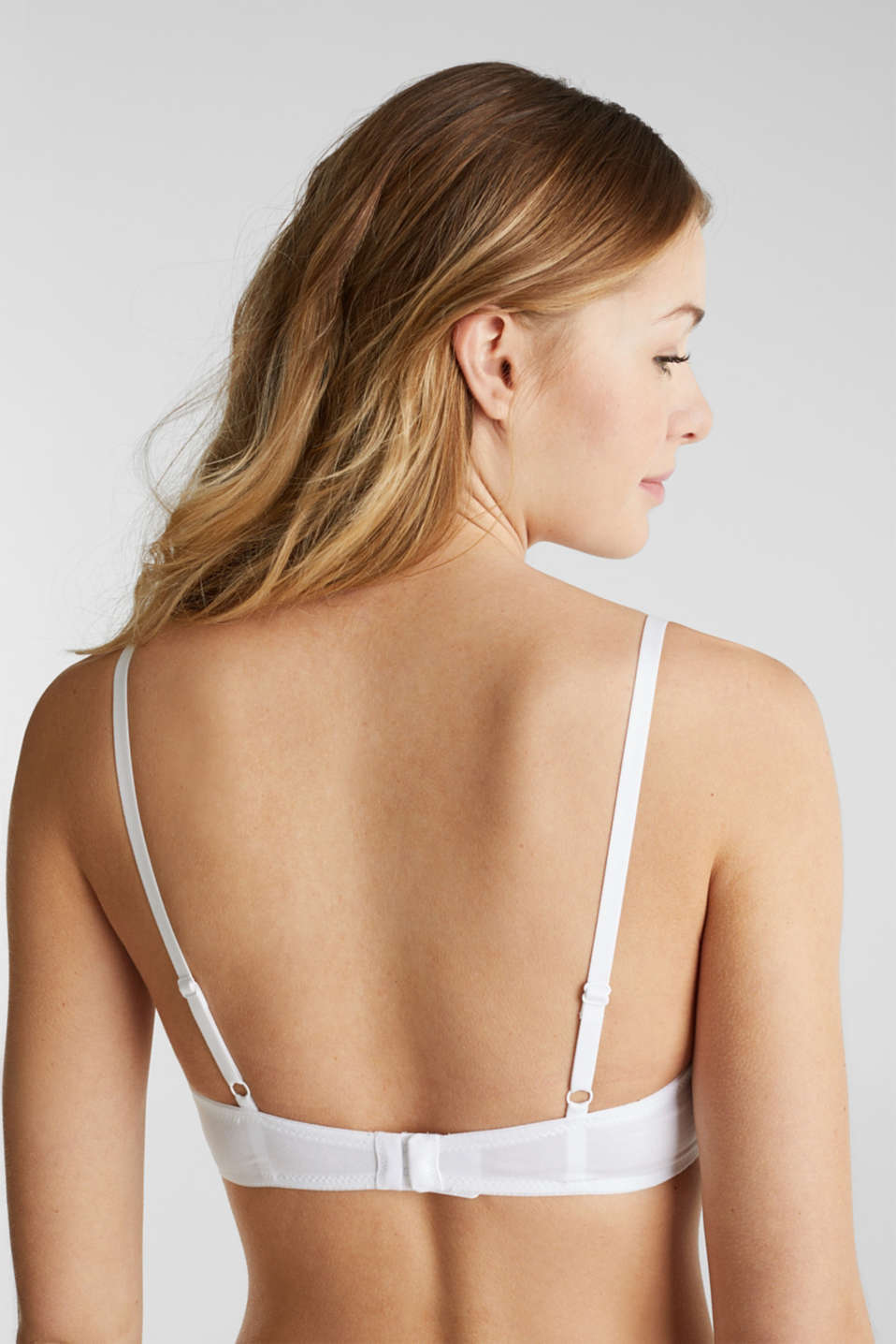 Non-wired bra, WHITE, detail image number 1