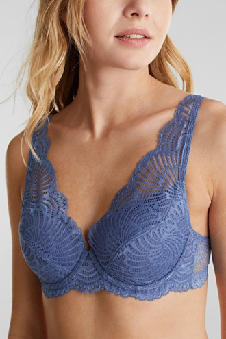 Padded underwire bra made of mesh/lace