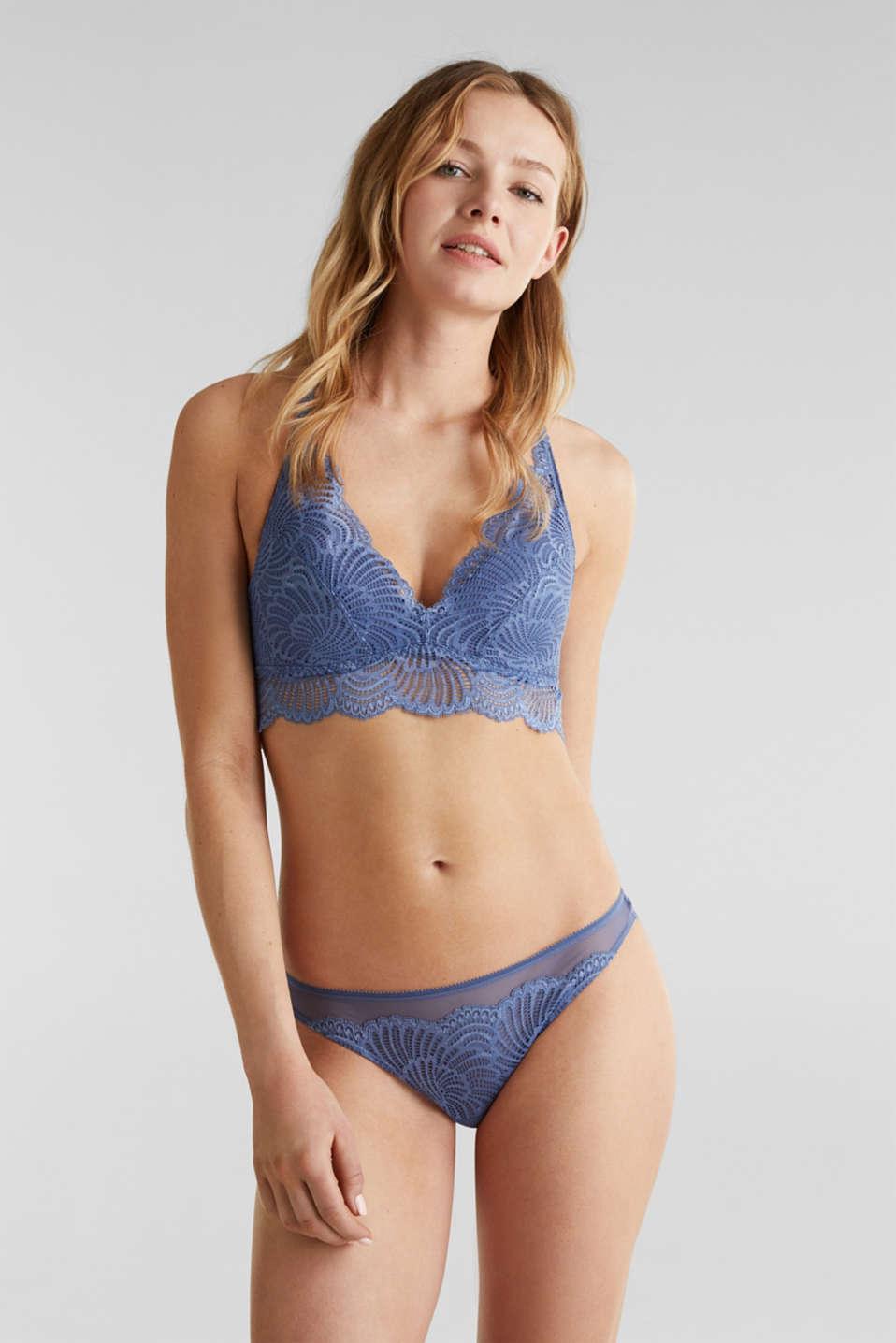 Mesh + lace hipster briefs, BLUE LAVENDER, detail image number 0