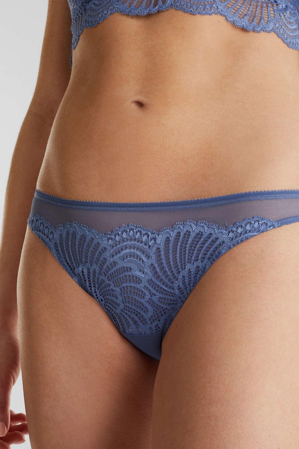 Mesh + lace hipster briefs, BLUE LAVENDER, detail image number 2