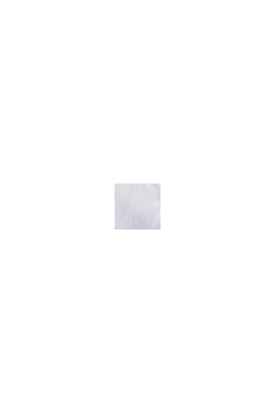 Sujetador de aros sin relleno realizado en encaje de hojas, WHITE, swatch