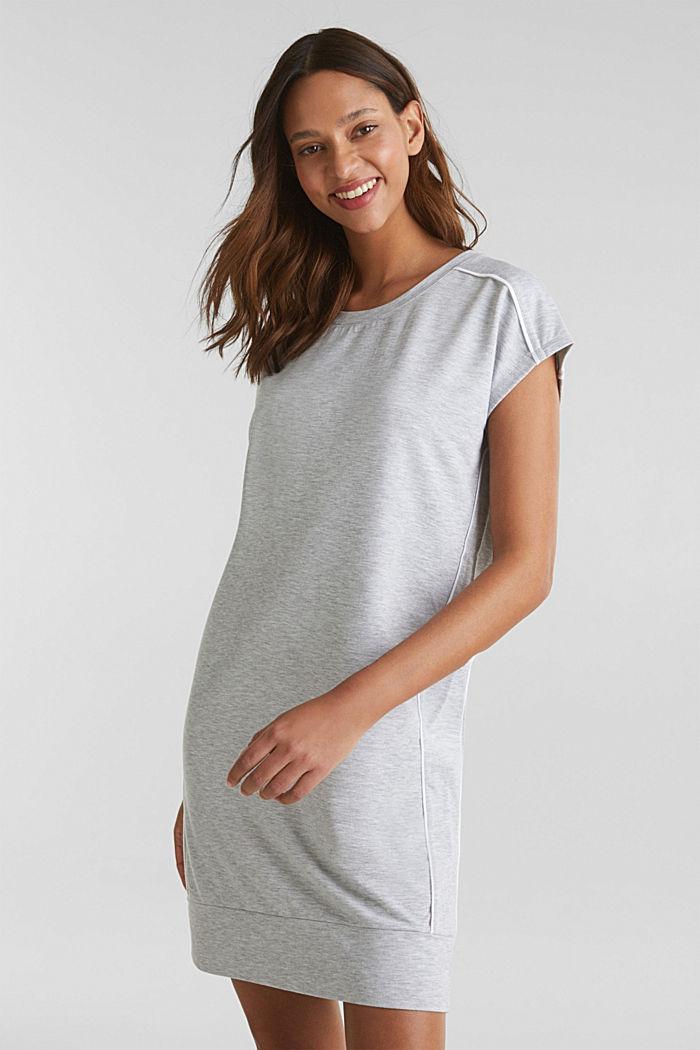 Jersey-Stretch-Dress mit Paspeln, MEDIUM GREY, detail image number 1