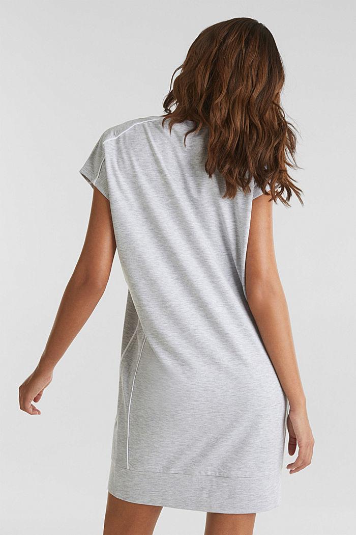 Jersey-Stretch-Dress mit Paspeln, MEDIUM GREY, detail image number 2