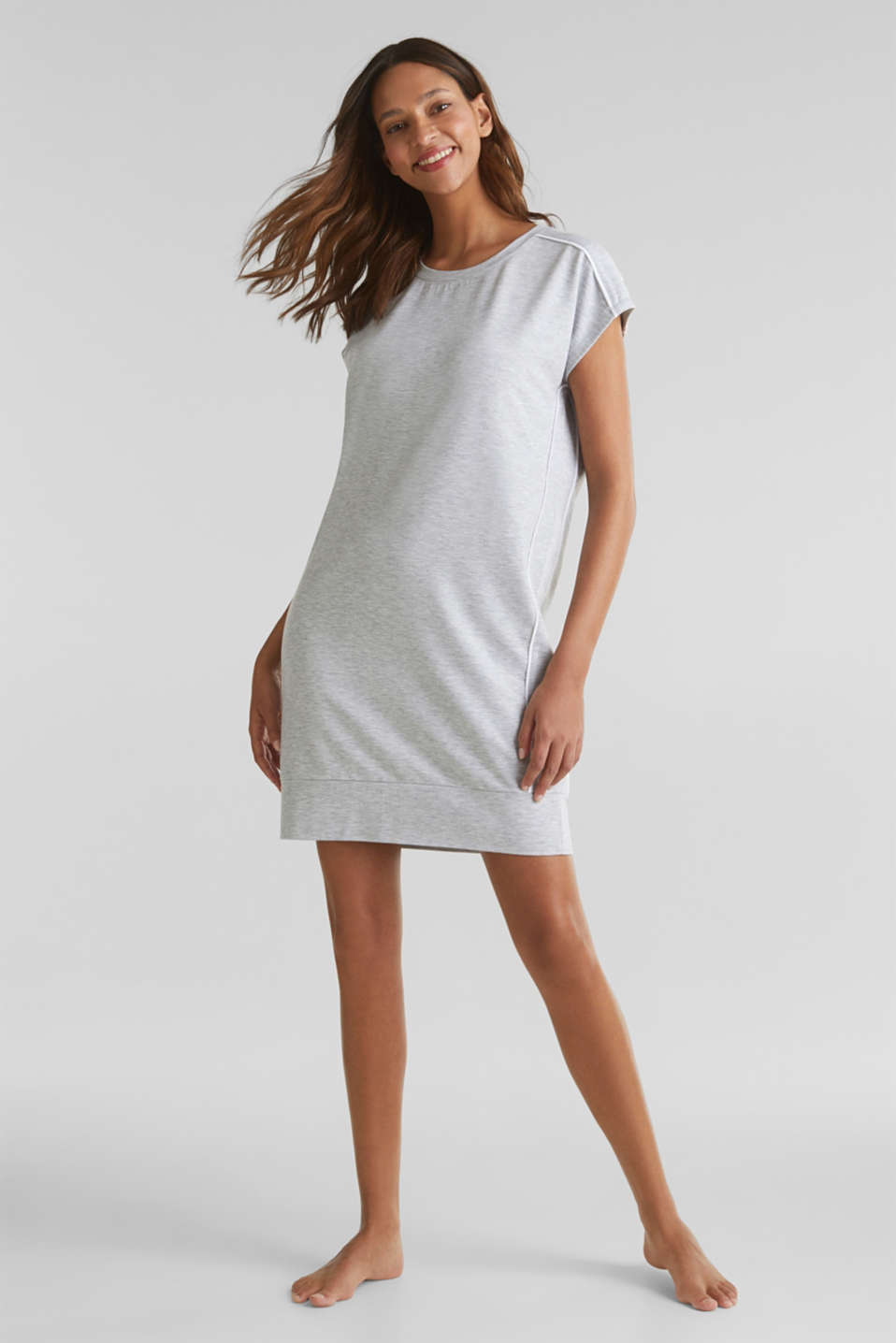 Esprit - Stretch jersey dress with piping