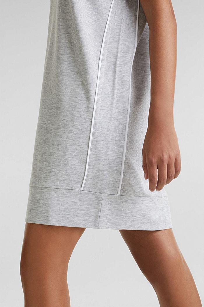 Jersey-Stretch-Dress mit Paspeln, MEDIUM GREY, detail image number 5