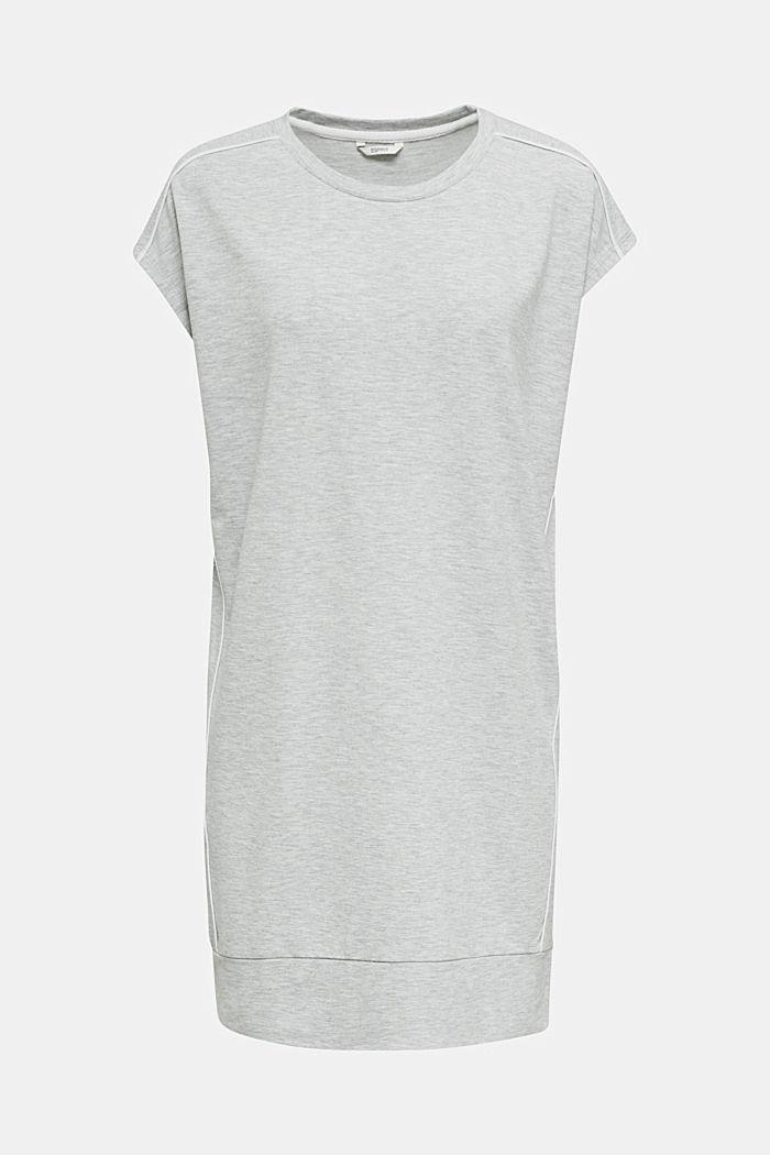 Jersey-Stretch-Dress mit Paspeln, MEDIUM GREY, detail image number 6
