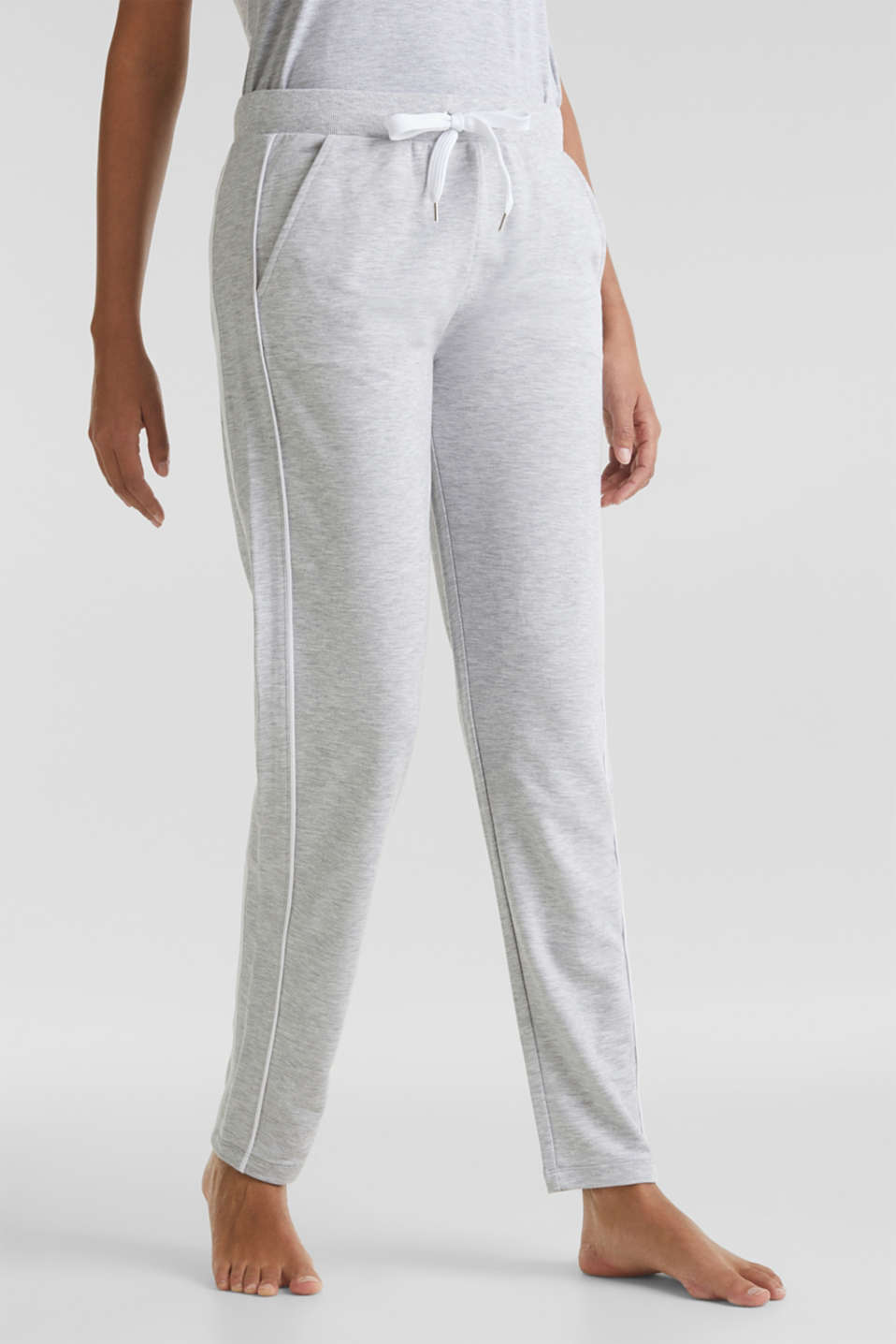 Esprit - Pantalon en jersey stretch chiné