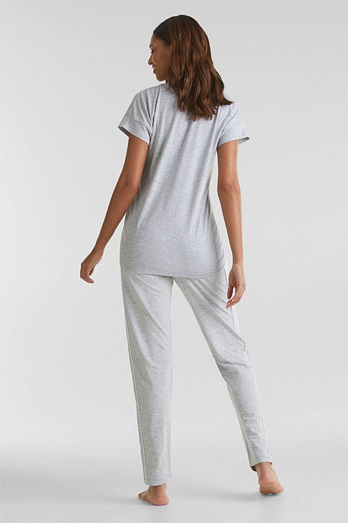 Meleeratut jersey-stretchhousut, MEDIUM GREY, detail image number 3