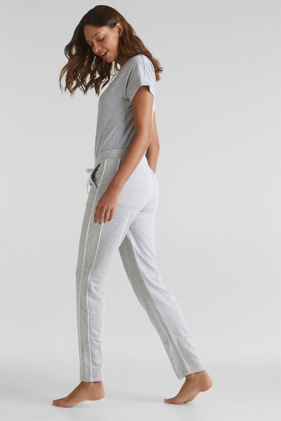 Melange stretch jersey trousers, MEDIUM GREY, detail image number 6