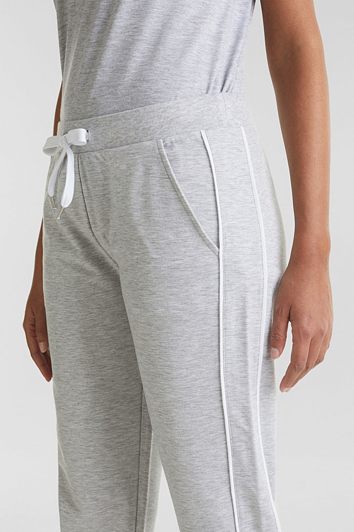 Meleeratut jersey-stretchhousut, MEDIUM GREY, detail image number 2