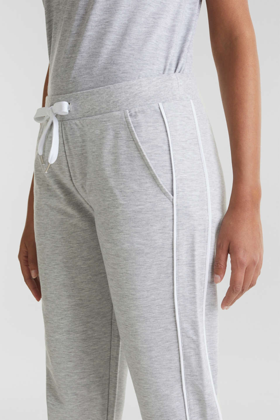 Melange stretch jersey trousers, MEDIUM GREY, detail image number 2