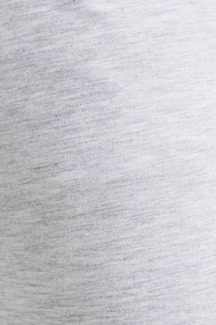 Meleeratut jersey-stretchhousut, MEDIUM GREY, detail image number 4