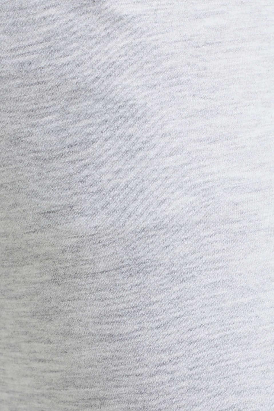 Melange stretch jersey trousers, MEDIUM GREY, detail image number 4